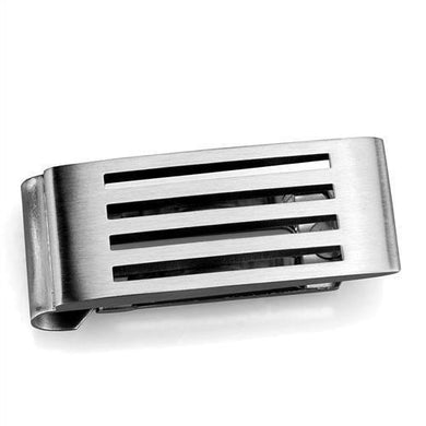 TK2074 - High polished (no plating) Stainless Steel Money clip with No Stone