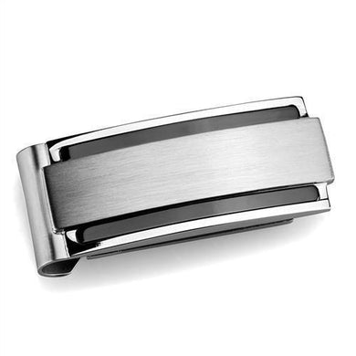 TK2085 - High polished (no plating) Stainless Steel Money clip with No Stone