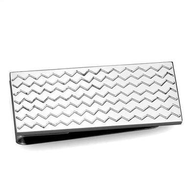 TK2087 - High polished (no plating) Stainless Steel Money clip with No Stone