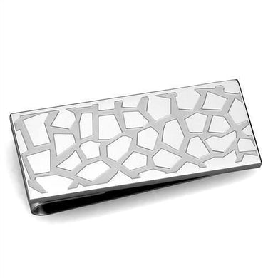 TK2092 - High polished (no plating) Stainless Steel Money clip with No Stone