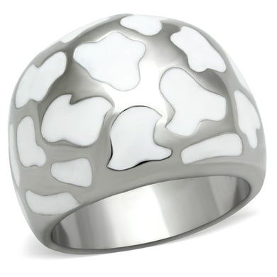 TK217 - High polished (no plating) Stainless Steel Ring with No Stone