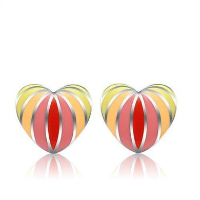 TK269 - High polished (no plating) Stainless Steel Earrings with No Stone