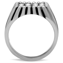 Load image into Gallery viewer, TK363 High polished (no plating) Stainless Steel Ring with Top Grade Crystal in Clear