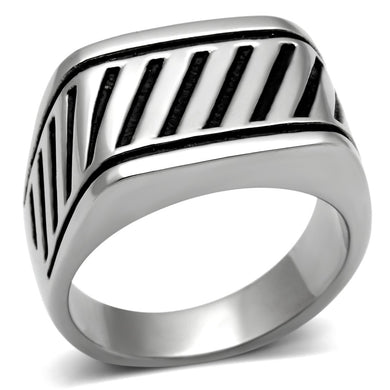 TK380 High polished (no plating) Stainless Steel Ring with No Stone in No Stone