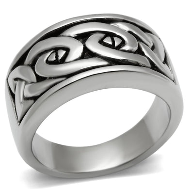 TK381 High polished (no plating) Stainless Steel Ring with No Stone in No Stone