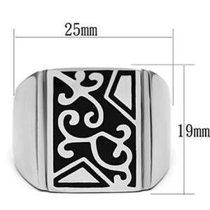 TK384 High polished (no plating) Stainless Steel Ring with No Stone in No Stone