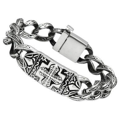 TK437 High polished (no plating) Stainless Steel Bracelet with No Stone in No Stone