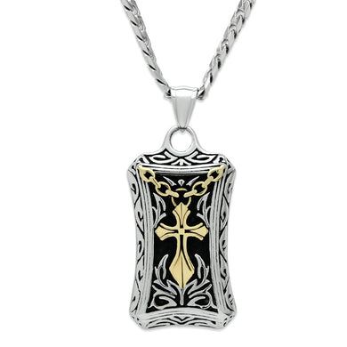 TK455 Gold+Rhodium Stainless Steel Chain Pendant with No Stone in No Stone