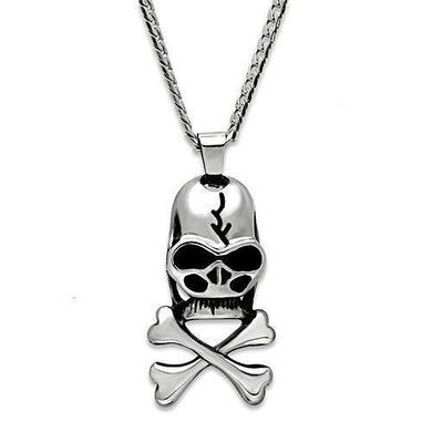 TK457 High polished (no plating) Stainless Steel Necklace with No Stone in No Stone