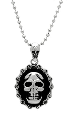 TK463 - High polished (no plating) Stainless Steel Chain Pendant with No Stone