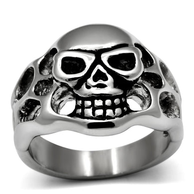 TK468 - High polished (no plating) Stainless Steel Ring with No Stone