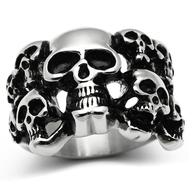 TK471 - High polished (no plating) Stainless Steel Ring with No Stone
