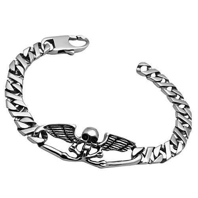 TK572 - High polished (no plating) Stainless Steel Bracelet with No Stone
