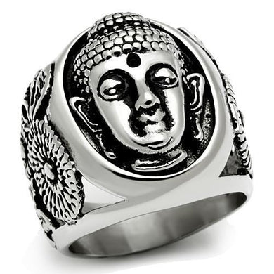 TK582 High polished (no plating) Stainless Steel Ring with No Stone in No Stone