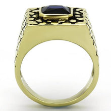 Load image into Gallery viewer, TK763 IP Gold(Ion Plating) Stainless Steel Ring with Synthetic in Montana