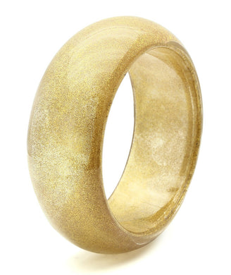 VL037 -  Resin Bangle with Synthetic Synthetic Stone in Brown