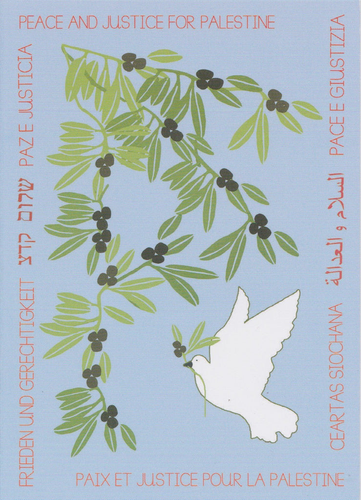 Sky Blue Dove and Olive Cards (4 pack)