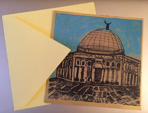 Stunning Individually hand-printed Palestine Christmas Cards (5 pack)