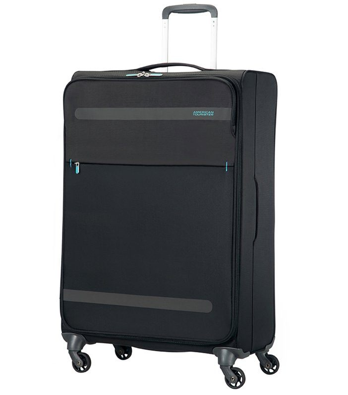 Image of   American Tourister Herolite Sort Kuffert - Stor - 74 cm