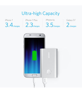 Anker PowerCore+ 10050 mAh Powerbank Quick Charge 3.0 Sølv