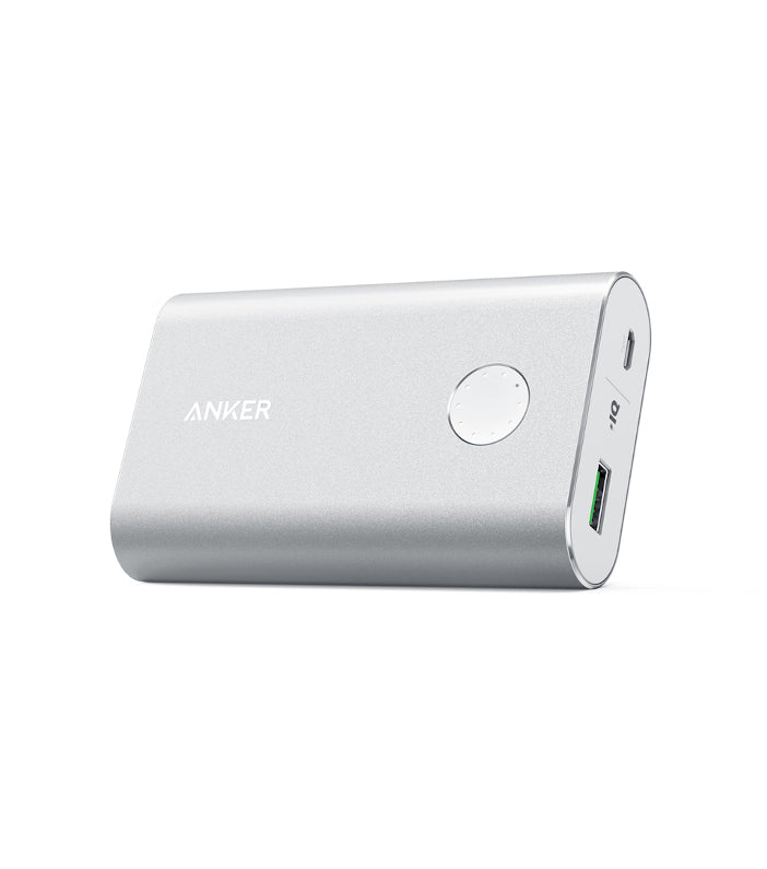 Image of   Anker PowerCore+ 10050 mAh Powerbank Quick Charge 3.0 Sølv
