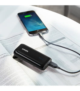 Anker Astro E1 Powerbank 5200 mAh Sort