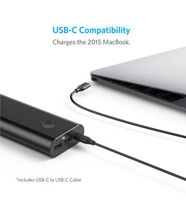 Anker Powercore+ 20100 mAh Powerbank USB-C Sort