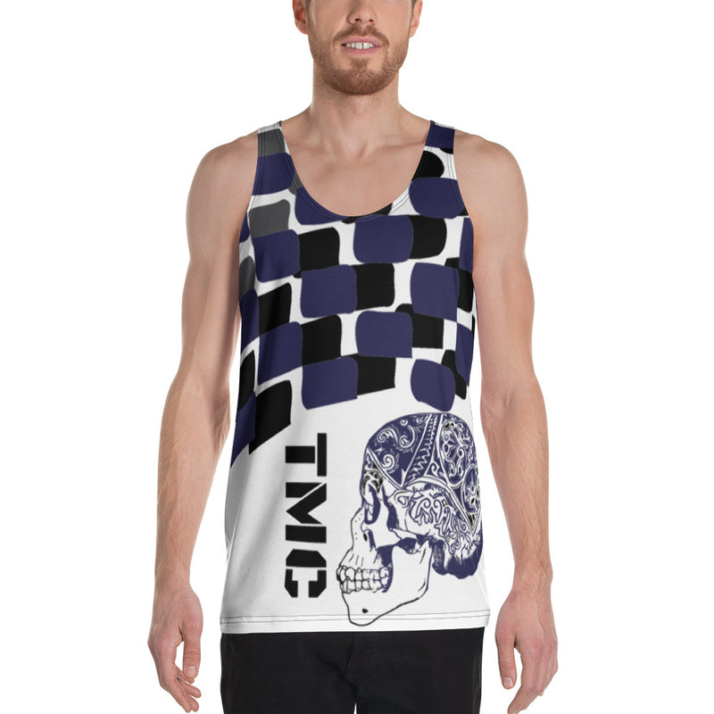 Blue Flagship Men's Tank Top-THE WISE VISIONS
