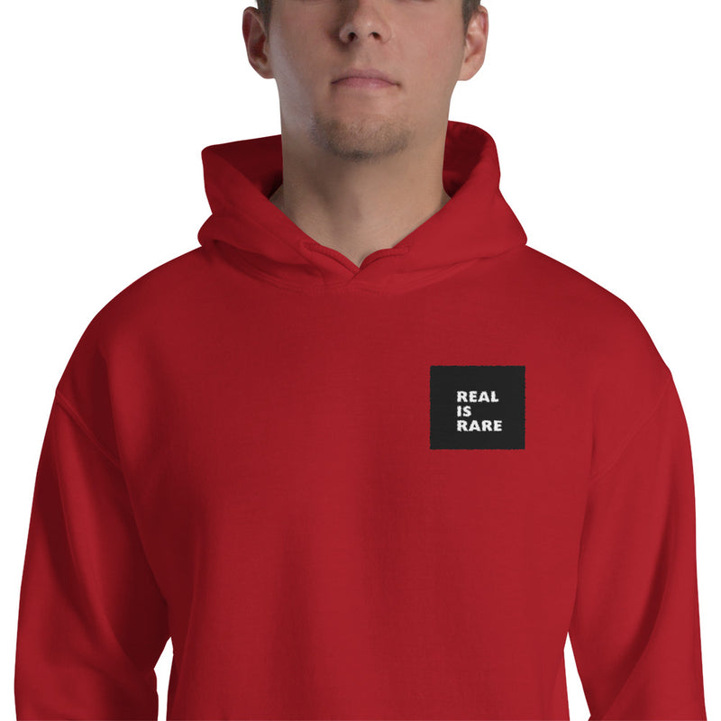 Real is Rare Hooded Logo Sweatshirt-THE WISE VISIONS