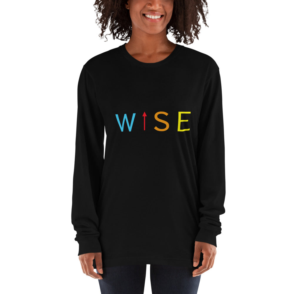 Colorful WISE UP Women's Long Sleeve T-Shirt-THE WISE VISIONS