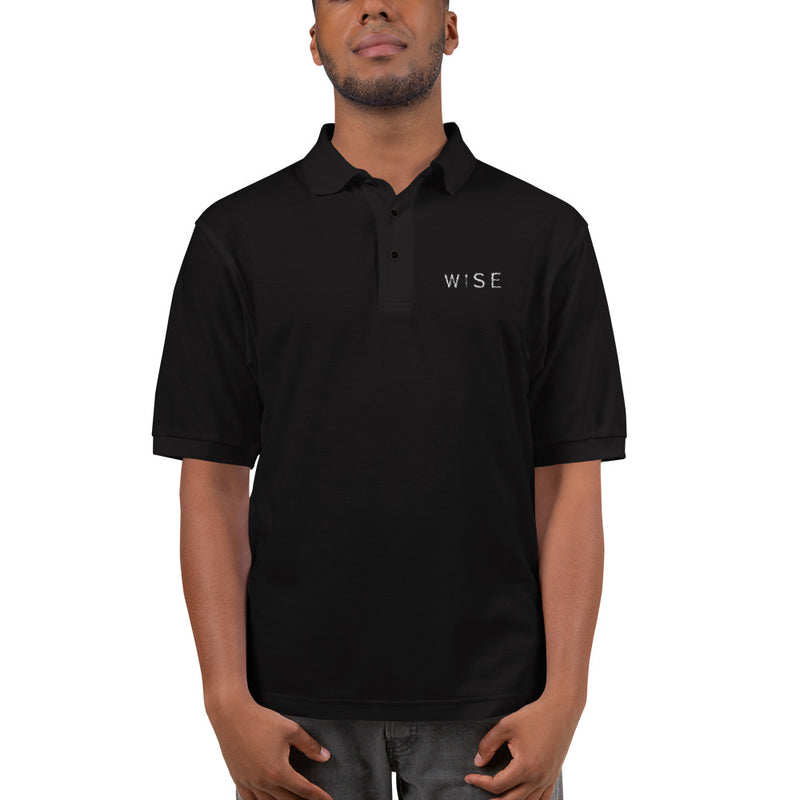 WISE UP Alternate Men's Embroidered Polo Shirt-THE WISE VISIONS