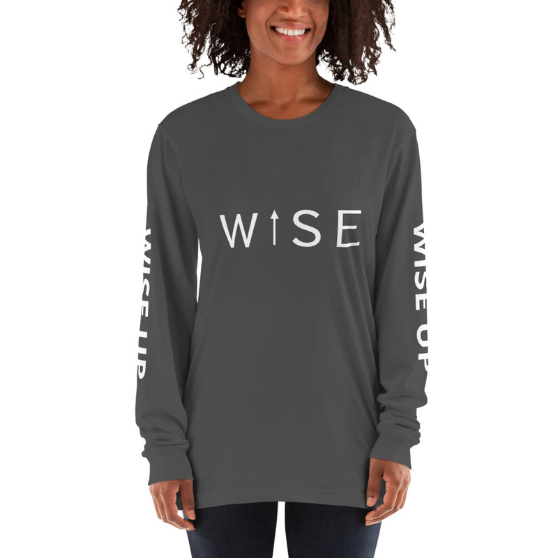 WISE UP Alternate Women's Long Sleeve T-Shirt-THE WISE VISIONS