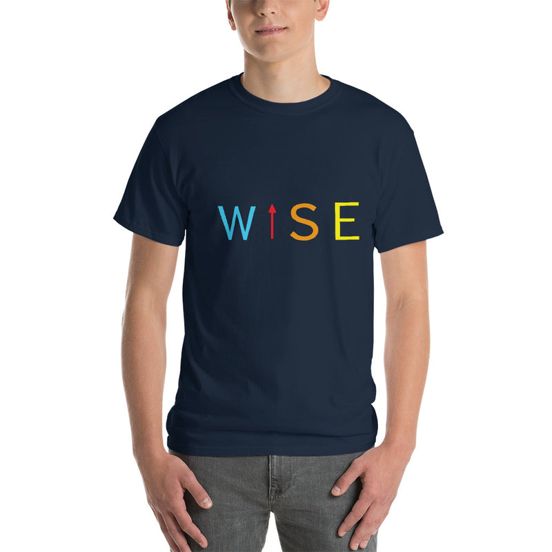 Colorful WISE UP Men's Classic Fit Short-Sleeve T-Shirt-THE WISE VISIONS