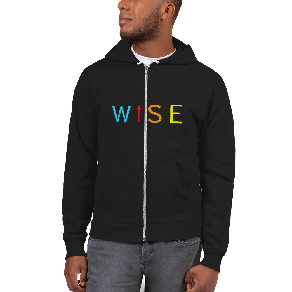 Colorful WISE UP Men's Hoodie sweater-THE WISE VISIONS