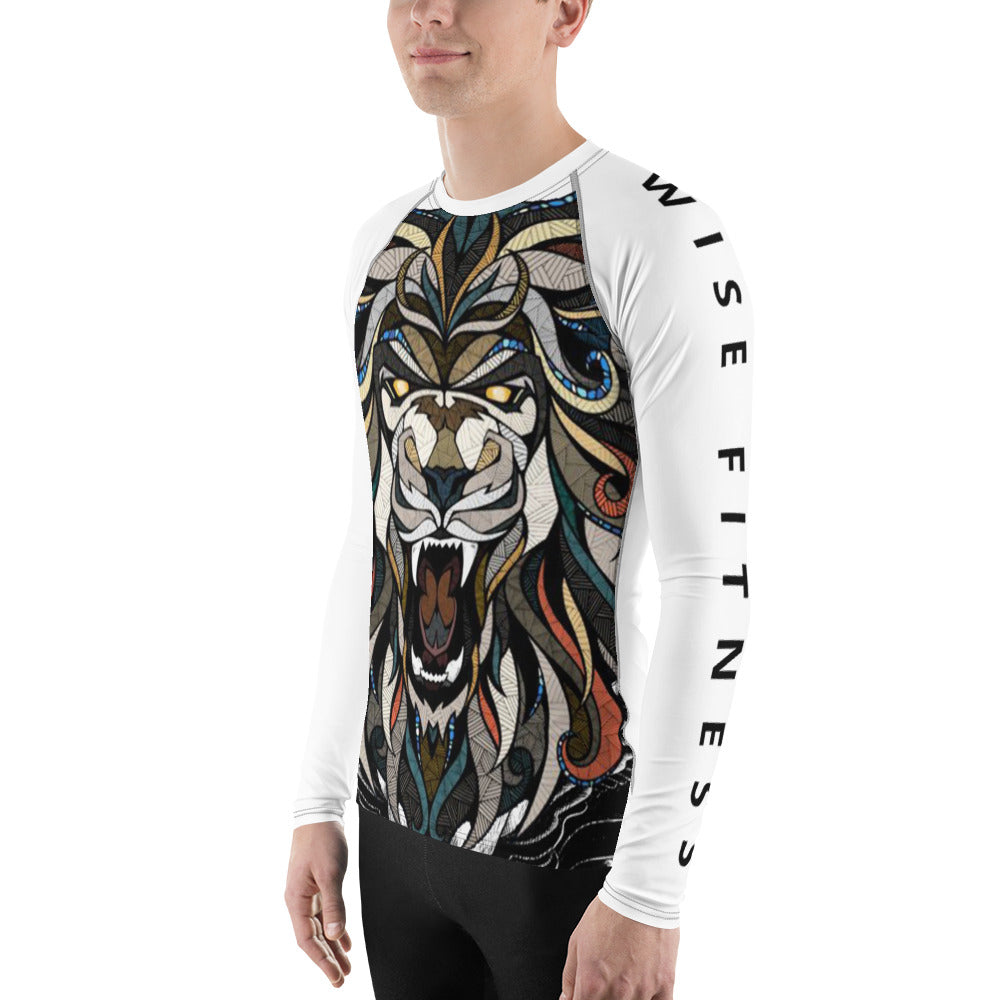 Courageous Men's Rash Guard-THE WISE VISIONS