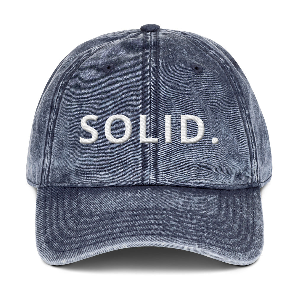 ALWAYS SOLID Vintage Cotton Twill Cap-THE WISE VISIONS