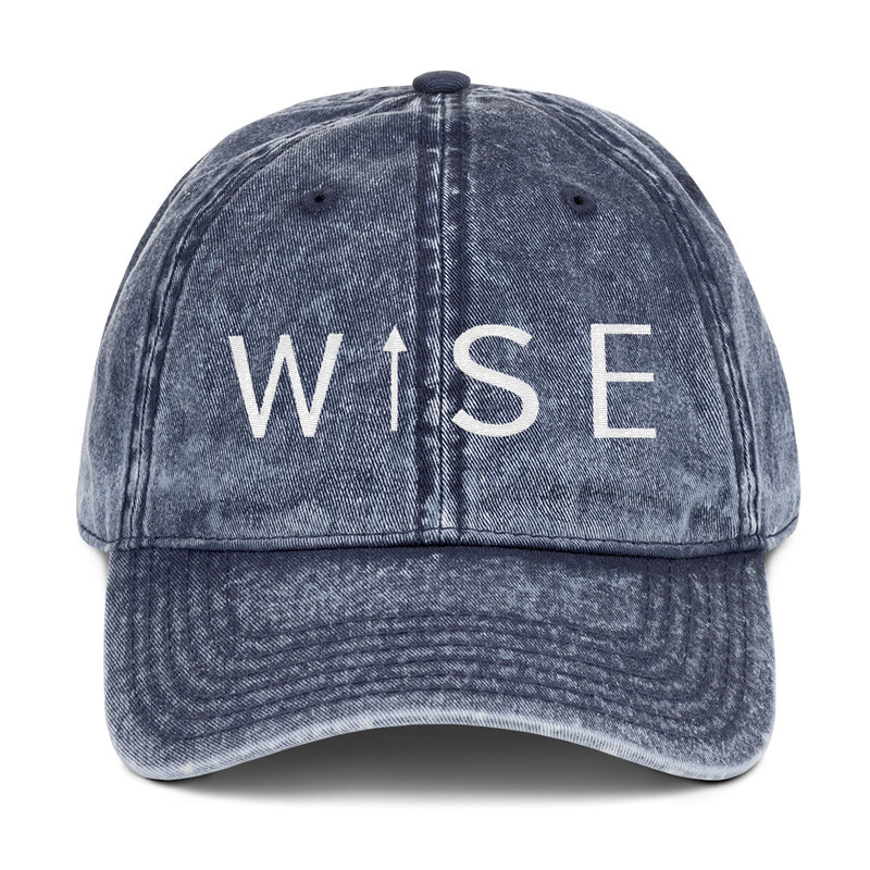 WISE UP Vintage Cotton Twill Cap-THE WISE VISIONS