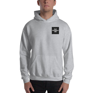 Put Yourself On Hooded Men's Logo Sweatshirt-THE WISE VISIONS
