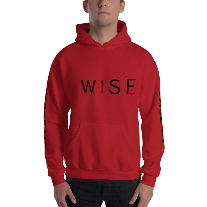 WISE UP Men's Hooded Sweatshirt-THE WISE VISIONS