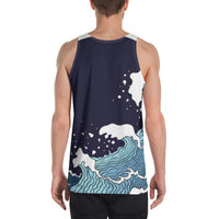 Dark Blue WI$E Culture Men's Tank Top-THE WISE VISIONS