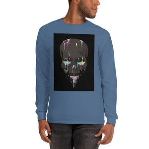 Skull Paintball Long Sleeve T-Shirt-THE WISE VISIONS