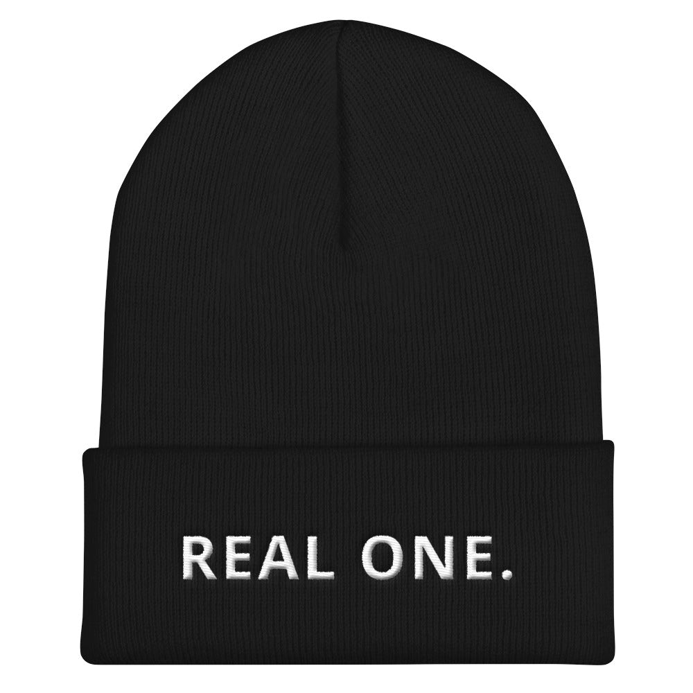 REAL ONE Cuffed Beanie-THE WISE VISIONS