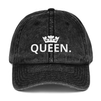 QUEEN Vintage Cotton Twill Cap-THE WISE VISIONS