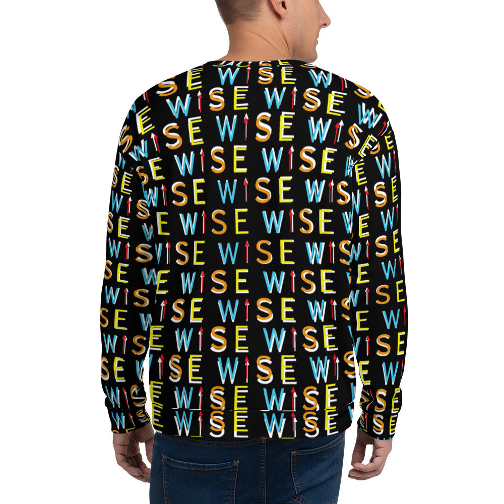 Colorful WISE UP Men's Fleece Sweatshirt