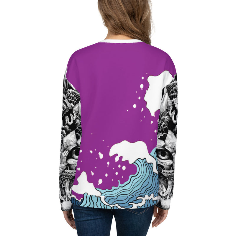Purple WI$E Culture Women's Sweatshirt-THE WISE VISIONS