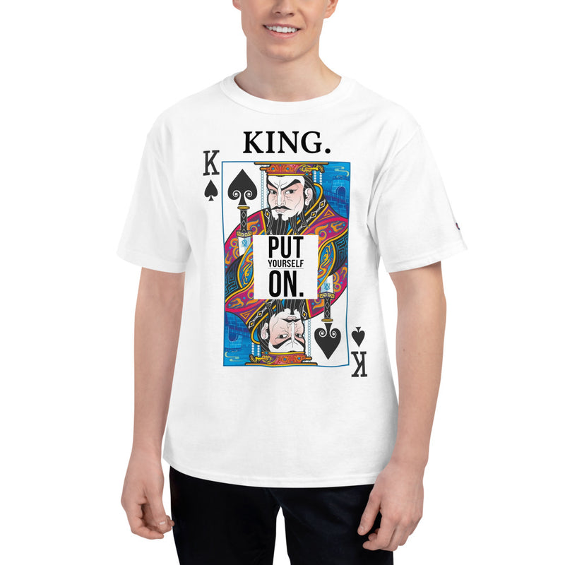 HU$TLE KING Men's Champion T-Shirt-THE WISE VISIONS