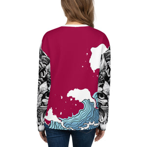Burgundy WI$E Culture Women's Sweatshirt-THE WISE VISIONS