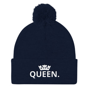 QUEEN Pom Pom Knit Cap-THE WISE VISIONS