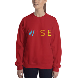 Colorful WISE UP Women's Sweatshirt-THE WISE VISIONS