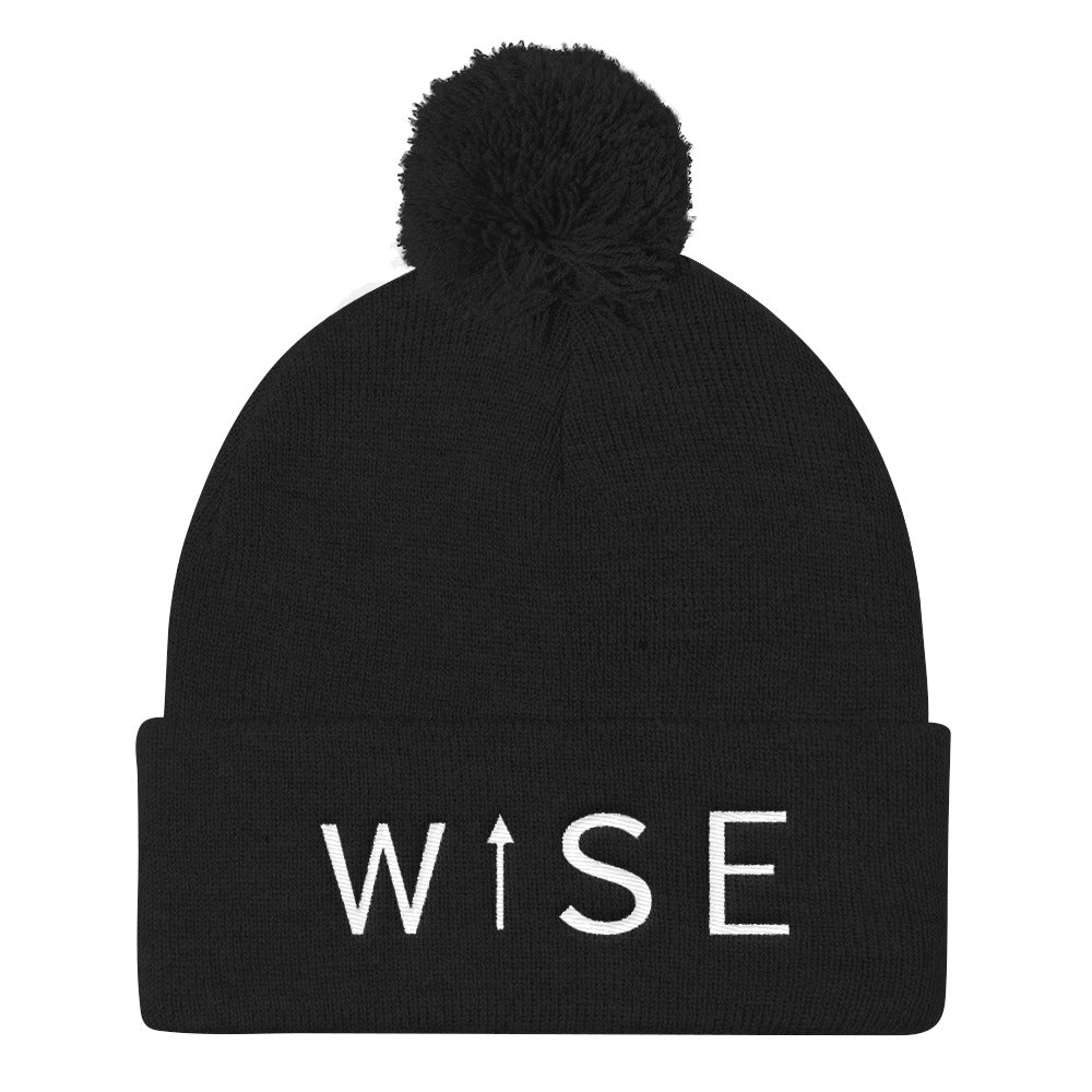 WISE UP Pom Pom Knit Cap-THE WISE VISIONS